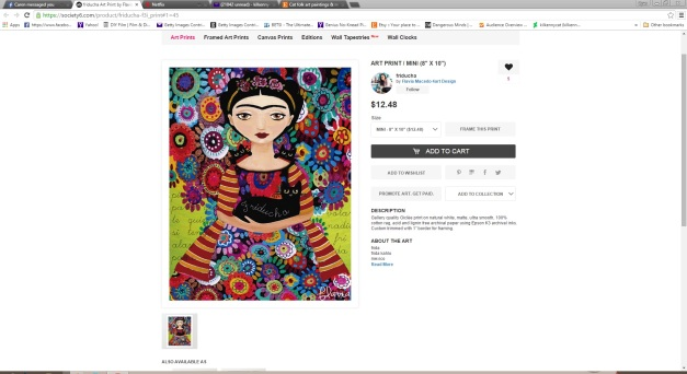 I even found it on Society 6, which pissed me off a bit more since I actually sell there.