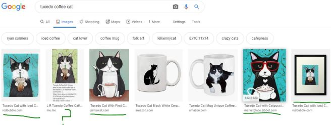 coffeee cat google