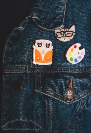 Mix and match art pins!
