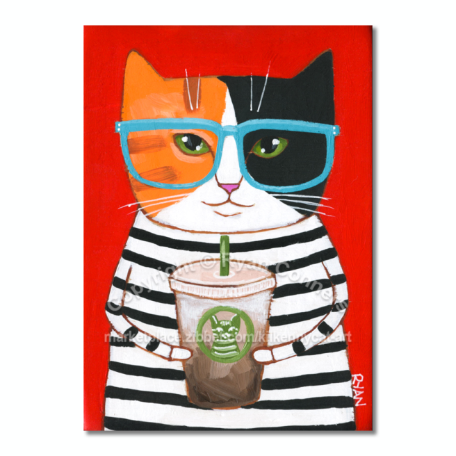 calico coffee cat