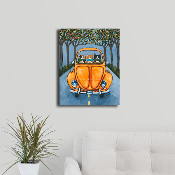 16 x 20 autumn road trip