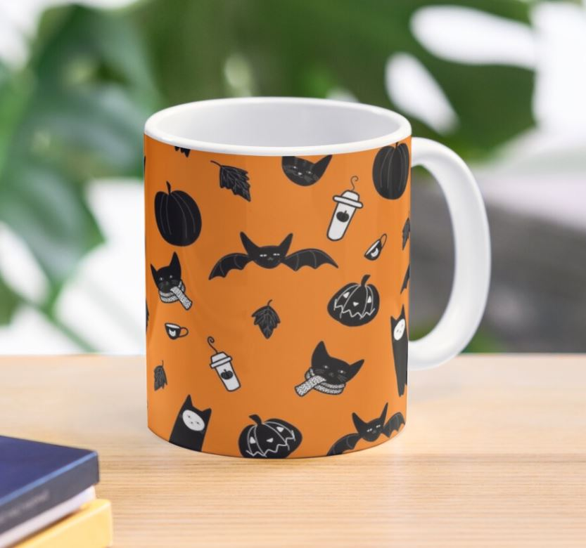 halloween cats cup